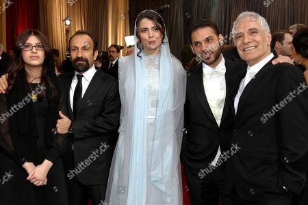 Sarina Farhadi, Asghar Farhadi, Leila Hatami, Peyman Moadi, Mahmoud Kalari From left, Sarina Farhadi, Asghar Farhadi, Leila Hatami, Peyman Moadi and Mahmoud Kalari arrive before the 84th Academy Awards, in the Hollywood section of Los Angeles