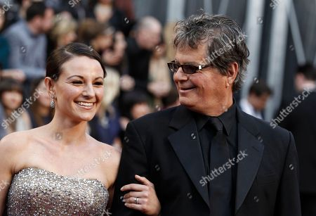 Robert Gould Robert Gould, right, and guest arrive before the 84th Academy Awards, in the Hollywood section of Los Angeles