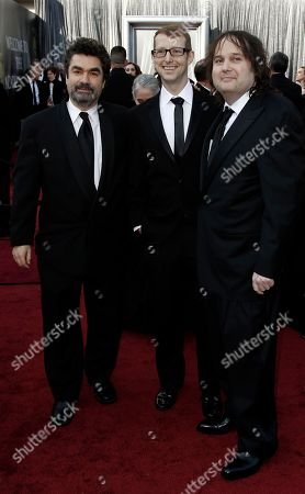 Joe Berlinger, Jason Baldwin, Bruce Sinofsky From left, Joe Berlinger, Jason Baldwin and Bruce Sinofsky arrive before the 84th Academy Awards, in the Hollywood section of Los Angeles