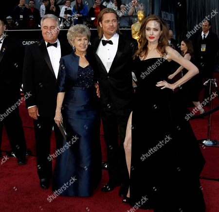 Jane Pitt, William Pitt, Brad Pitt, Angelina Jolie From left, Jane Pitt, William Pitt, actor Brad Pitt, and actress Angelina Jolie arrive before the 84th Academy Awards, in the Hollywood section of Los Angeles