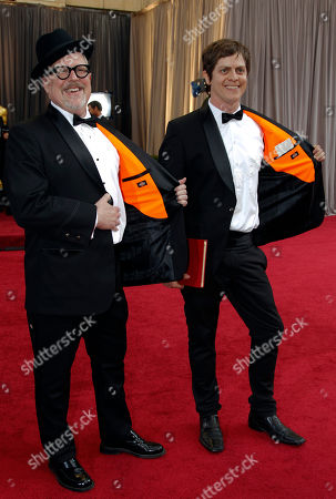 William Joyce, Brandon Oldenburg William Joyce, left, and Brandon Oldenburg arrive before the 84th Academy Awards, in the Hollywood section of Los Angeles