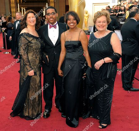 Robin Fryday, Darren Armstrong, Shirley Floyd, Abby Ginzberg Robin Fryday, from left, Darren Armstrong, Shirley Floyd, and Abby Ginzberg arrive before the 84th Academy Awards, in the Hollywood section of Los Angeles