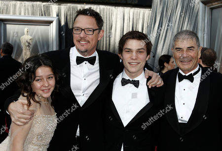 Stock Picture of Amara Miller, Matthew Lillard, Nick Krause, Robert Forster From left, Amara Miller, Matthew Lillard, Nick Krause and Robert Forster arrive before the 84th Academy Awards, in the Hollywood section of Los Angeles