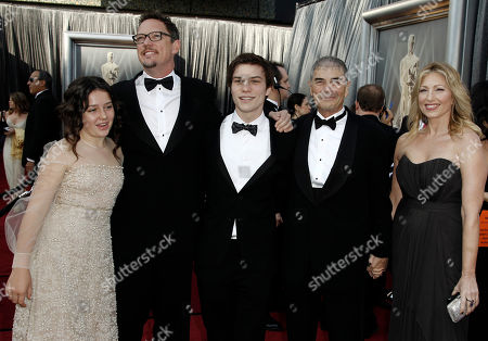 Stock Image of Amara Miller, Matthew Lillard, Nick Krause, Robert Forster From left, Amara Miller, Matthew Lillard, Nick Krause and Robert Forster arrive before the 84th Academy Awards, in the Hollywood section of Los Angeles