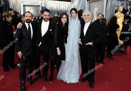 Asghar Farhadi, Leila Hatami, Peyman Moadi, Sarina Farhadi, Mahmoud Kalari From left, Asghar Farhadi, Peyman Moadi, Sarina Farhadi, Leila Hatami and Mahmoud Kalari arrive before the 84th Academy Awards, in the Hollywood section of Los Angeles