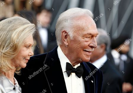 Christopher Plummer, Elaine Taylor Christopher Plummer, right, and Elaine Taylor arrive before the 84th Academy Awards, in the Hollywood section of Los Angeles