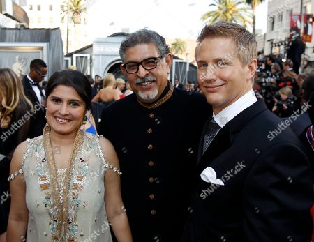 Sharmeen Obaid Chinoy, Dr. Mohammad Ali Jawad, Daniel Jung Sharmeen Obaid Chinoy, left, Dr. Mohammad Ali Jawad, center, and Daniel Jung arrive before the 84th Academy Awards, in the Hollywood section of Los Angeles
