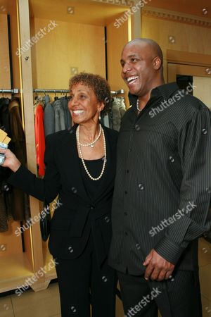 Dolores Robinson and Barry Bonds