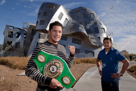 Diego Magdaleno, Jesse Magdaleno Boxers Diego, left, and Jesse Magdaleno stand for a photo outside the Cleveland Clinic's Lou Ruvo Center for Brain Health, in Las Vegas. The super featherweight and super bantamweight fighters are participating in a study at the center which will help researchers understand why some fighters suffer brain damage from punches taken in the ring while others can get hit in the head for years and show no effects. Researchers hope to eventually enroll more than 600 fighters in what is expected to be a four-year study of their brains