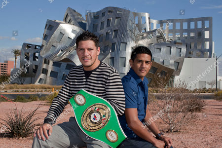 Diego Magdaleno, Jesse Magdaleno Boxers Diego, left, and Jesse Magdaleno sit for a photo outside the Cleveland Clinic's Lou Ruvo Center for Brain Health, in Las Vegas. The super featherweight and super bantamweight fighters are participating in a study at the center which will help researchers understand why some fighters suffer brain damage from punches taken in the ring while others can get hit in the head for years and show no effects. Researchers hope to eventually enroll more than 600 fighters in what is expected to be a four-year study of their brains