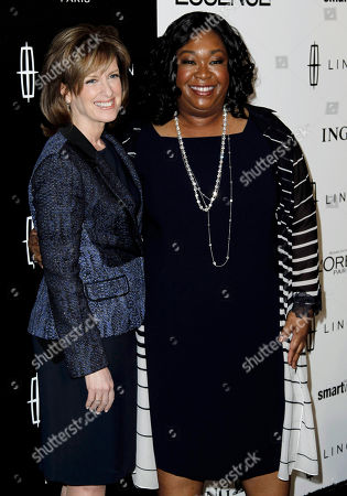 Shonda Rhimes, Ann Sweeney Shonda Rhimes, right, and Ann Sweeney pose together at the 5th annual Essence Black Women in Hollywood Luncheon in Beverly Hills, Calif