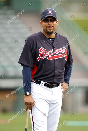 David Justice Former Atlanta Braves outfielder David Justice attends spring training baseball as a guest coach, in Lake Buena Vista, Fla