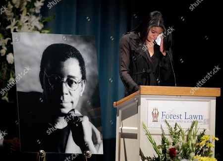 """Christina Cornelius Christina Cornelius, granddaughter of Don Cornelius, wipes her tears while reading a statement during a private memorial service for """"Soul Train"""" creator and host Don Cornelius in Los Angeles, . Cornelius died Feb. 1 from a self-inflicted gunshot wound. Since then, tributes to him and the show he created have been held around the country"""