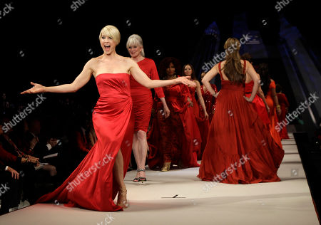 Editorial photo of Fashion Heart Truth Red Dress, New York, USA