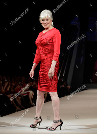 Linda Evans Actress Linda Evans models Tadashi Shoji during the Heart Truth Red Dress fashion show in New York