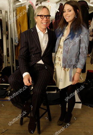 Tommy Hilfiger, Elizabeth Hilfiger Designer Tommy Hilfiger poses with his daughter Elizabeth, 18, before the presentation of his Fall 2012 collection during Fashion Week in New York