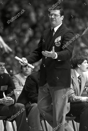 """Shows Kentucky basketball coach Joe B. Hall on the sidelines. On, Hall was announced as part of the 10-member class that will be inducted into the National Collegiate Basketball Hall of Fame in November. """"It means so much to me personally, but it also makes me proud of my family, and for all the players that I coached, to the assistant coaches,"""" Hall said. """"It's also an extra honor to be coming into this Hall of Fame with such an illustrious group of honorees."""" The rest of the class includes a trio of future New York Knicks: Patrick Ewing of Georgetown, Earl Monroe from Winston-Salem State and Willis Reed of Grambling. Kansas star Clyde Lovellette was selected along with North Carolina's Phil Ford and Wyoming's Kenny Sailors. Dave Robbins, who won more than 700 games at Virginia Union, joins Hall as the two coaches to be inducted. Businessmen Jim Host and Joe Dean will go in as contributors"""