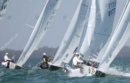 Richard Clark, Tyler Bjorn Richard Clark and Tyler Bjorn, (26) from Canada, race in the Star series at the Miami Olympic Classes Regatta on Biscayne Bay in Miami, . More than 500 sailors from 44 countries are competing in the stepping stone to the Olympic games