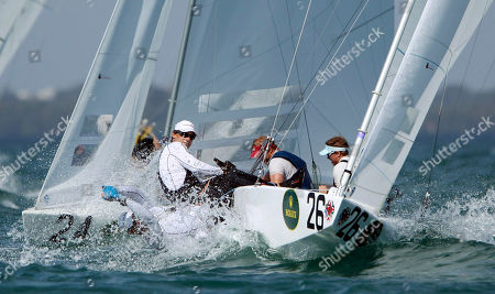 Richard Clark, Tyler Bjorn Richard Clark and Tyler Bjorn, from Canada, race in the Star series at the Miami Olympic Classes Regatta on Biscayne Bay in Miami, . More than 500 sailors from 44 countries are competing in the stepping stone to the Olympic games