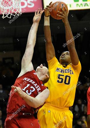 Ralph Sampson III, Brandon Ubel Minnesota's Ralph Sampson III, right, out-rebounds Nebraska's Brandon Ubel in the second half of an NCAA college basketball game in Minneapolis. Minnesota won 81-69