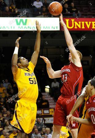 Brandon Ubel, Ramph Sampson III Nebraska's Brandon Ubel, right, shoots over Minnesota's Ralph Sampson III in the first half of an NCAA college basketball game in Minneapolis