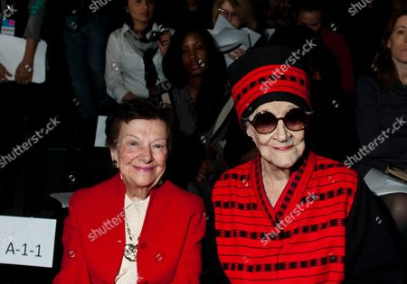 Stock Picture of Zelda Kaplan Zelda Kaplan, 95, right, sits with Fashion Calendar publisher Ruth Finley, as they wait for the Joanna Mastroianni Fall 2012 fashion show to begin, during Fashion Week, in New York. Kaplan was sitting in the front row of designer Mastroianni's show at Lincoln Center when she collapsed, Wednesday. She was later pronounced dead at Roosevelt Hospital. Kaplan was known for her lively nightlife, attending art openings, parties and clubs with people young enough to be her great-grandchildren