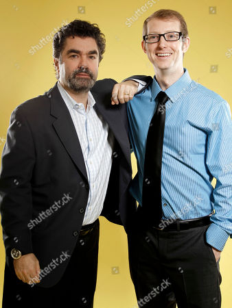 "Joe Berlinger, Jason Baldwin Director Joe Berlinger, left, and Jason Baldwin, subject of the film ""Paradise Lost 3: Purgatory,"" pose for portrait at the Academy Awards Nominees Luncheon in Beverly Hills, Calif., . The 84th Academy Awards will be held Feb. 26, 2012"