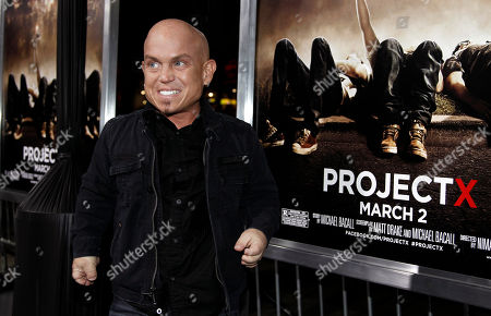 """Martin Klebba Cast member Martin Klebba arrives at the premiere of """"Project X"""" in Los Angeles, . """"Project X"""" opens in theaters Friday, March 2, 2012"""