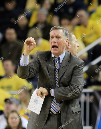 Jeff Meyer Michigan assistant head coach Jeff Meyer signals from the sidlines during the first half of an NCAA college basketball game against Purdue at Crisler Center in Ann Arbor, Mich