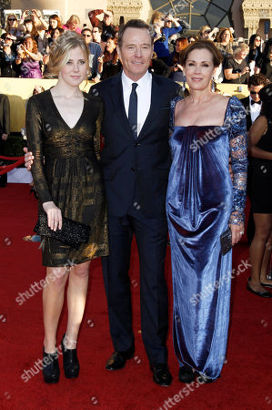 Stock Image of Taylor Dearden, Bryan Cranston, Robin Dearden From left, Taylor Dearden, Bryan Cranston and Robin Dearde arrive at the 18th Annual Screen Actors Guild Awards on in Los Angeles