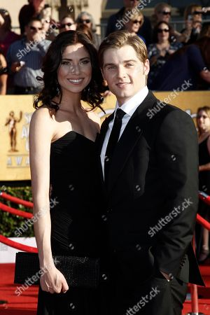 Courtney Vogel; Mike Vogel Courtney Vogel and Mike Vogel arrive at the 18th Annual Screen Actors Guild Awards on in Los Angeles
