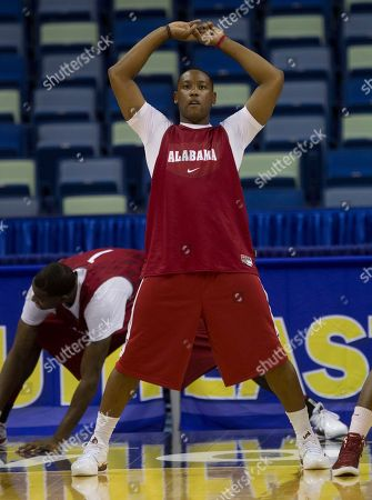 Andrew Steele, JaMychal Green Alabama guard Andrew Steele (22) loosens up during their NCAA college basketball practice for the Southeastern Conference basketball tournament at the New Orleans Arena in New Orleans . At rear is Alabama forward JaMychal Green (1). Alabama will place South Carolina in the opening round of the tournament on Thursday
