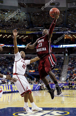 Bruce Ellington, Andrew Steele South Carolina guard Bruce Ellington (23) shoots over the defense of Alabama guard Andrew Steele (22) during the second half of an NCAA college basketball game in the first round of the Southeastern Conference basketball tournament at the New Orleans Arena in New Orleans