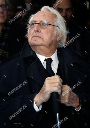 Richard Meier Graph, renowned architect and Newark native, Richard Meier, listens during groundbreaking ceremonies for the Teachers Village development in downtown Newark, N.J. The mixed-use development project, designed by Meier, that will contain several schools, a retail corridor and affordable teacher housing aimed at attracting new faces to the city's struggling schools. Teachers Village is scheduled to open in Newark next year with rents ranging from $700 to $1,400, a bargain in the New York metro area. The $150 million development is being covered by a combination of public and private funds