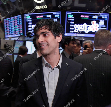 Jeremy Stoppelman Jeremy Stoppelman, Yelp co-founder and CEO, walks the floor of the New York Stock Exchange after his company's IPO, . Yelp's stock is soaring in its stock market debut Friday. The shares are up 61 percent to $24.15 in the first minutes of trading, after pricing at $15 on Thursday night