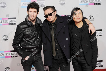Ryan Daly, Mason Musso, Anthony Improgo The band Metro Station, from left, Ryan Daly, Mason Musso, and Anthony Improgo, arrive at the 39th Annual American Music Awards on in Los Angeles