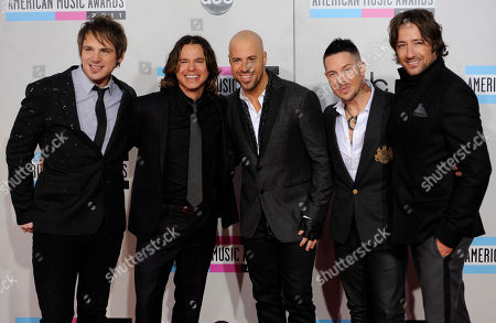 Stock Photo of Brian Craddock, Robin Diaz, Chris Daughtry, Josh Paul, Josh Steely Brian Craddock, Robin Diaz, Chris Daughtry, Josh Paul, and Josh Steely of the band Daughtry arrive at the 39th Annual American Music Awards on in Los Angeles
