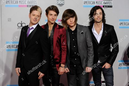 Nash Overstreet, Ryan Follese, Jamie Follese, Ian Keaggy The band Hot Chelle Rae, from left, Nash Overstreet, Ryan Follese, Jamie Follese, and Ian Keaggy, arrives at the 39th Annual American Music Awards on in Los Angeles