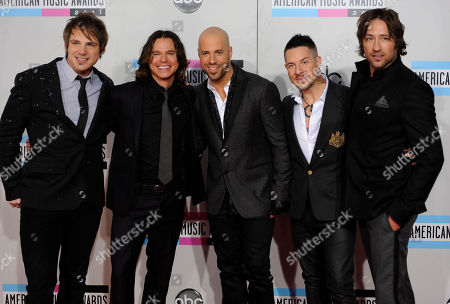 Brian Craddock, Robin Diaz, Chris Daughtry, Josh Paul, Josh Steely Brian Craddock, Robin Diaz, Chris Daughtry, Josh Paul, and Josh Steely of the band Daughtry arrive at the 39th Annual American Music Awards on in Los Angeles