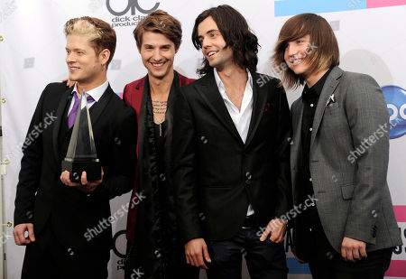Nash Overstreet, Ryan Follese, Ian Keaggy, Jamie Follese The band Hot Chelle Rae, from left, Nash Overstreet, Ryan Follese, Ian Keaggy, and Jamie Follese, poses backstage with the Sprint new artist of the year award at the 39th Annual American Music Awards on in Los Angeles