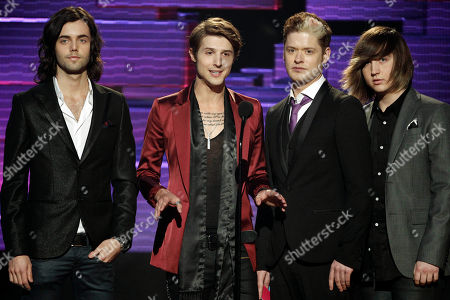 Ian Keaggy, Ryan Follese, Nash Overstreet, Jamie Follese The band Hot Chelle Rae, from left, Ian Keaggy, Ryan Follese, Nash Overstreet, and Jamie Follese, is seen onstage at the 39th Annual American Music Awards on in Los Angeles