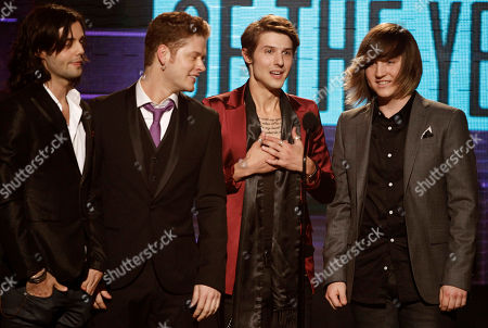 Ian Keaggy, Nash Overstreet, Ryan Follese, Jamie Follese The band Hot Chelle Rae, from left, Ian Keaggy, Nash Overstreet, Ryan Follese, and Jamie Follese, accept the Sprint new artist of the year award at the 39th Annual American Music Awards on in Los Angeles