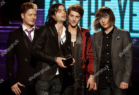 Nash Overstreet, Ian Keaggy, Ryan Follese, Jamie Follese The band Hot Chelle Rae, from left, Nash Overstreet, Ian Keaggy, Ryan Follese, and Jamie Follese, accept the Sprint new artist of the year award at the 39th Annual American Music Awards on in Los Angeles