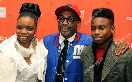 """Spike Lee, Toni Lysaith, Jules Taylor Brown Spike Lee, center, the writer/director of """"Red Hook Summer,"""" poses with cast member Toni Lysaith, left, and Jules Taylor Brown, right, at the premiere of the film at the 2012 Sundance Film Festival in Park City, Utah"""