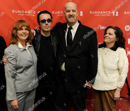 "Stock Picture of Damien Echols, Mark Byers, Jacki Byers, Pam Hobbs Damien Echols, second from left, a producer of the film ""West of Memphis,"" poses with Pam Hobbs, left, and Mark Byers and his wife Jacki at the premiere of the documentary film at the 2012 Sundance Film Festival in Park City, Utah, . Echols spent 18 years on death row in Arkansas after being accused, along with Jason Baldwin and Jessie Misskelley Jr., of the murders of three eight-year-old boys including Byers' son Christopher and Hobbs' son Stevie. In August 2011 the three men were released from prison after entering a plea that allowed them to maintain their innocence, while acknowleding that prosecutors had enough evidence to convict them"