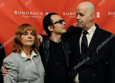 "Stock Image of Damien Echols, Mark Byers Pam Hobbs Damien Echols, center, a producer of the film ""West of Memphis,"" mingles with Pam Hobbs, left, and Mark Byers at the premiere of the documentary film at the 2012 Sundance Film Festival in Park City, Utah, . Echols spent 18 years on death row in Arkansas after being accused, along with Jason Baldwin and Jessie Misskelley Jr., of the murders of three eight-year-old boys including Byers' son Christopher and Hobbs' son Stevie. In August 2011 the three men were released from prison after entering a plea that allowed them to maintain their innocence, while acknowleding that prosecutors had enough evidence to convict them"