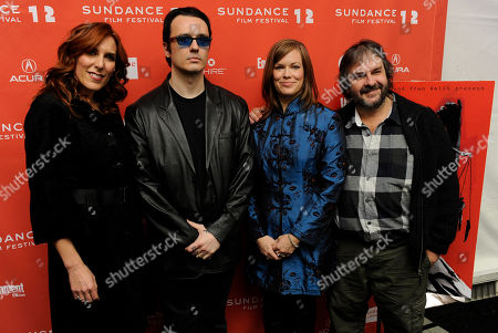 "Amy Berg, Damien Echols, Lorri Davis, Peter Jackson Amy Berg, left, director and screenwriter of the documentary film ""West of Memphis,"" poses with, from left, producers Damien Echols and his wife Lorri Davis, and producer Peter Jackson at the premiere of the film at the 2012 Sundance Film Festival in Park City, Utah, . The film uncovers new evidence surrounding the arrest and conviction of three men -- Echols, Jason Baldwin and Jessie Misskelley Jr. -- in the 1993 murders of three eight-year-old boys in West Memphis, Arkansas"