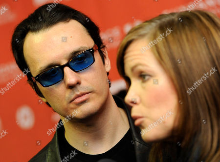 "Damien Echols, Lorri Davis Damien Echols, left, a producer of the documentary film ""West of Memphis,"" and his wife Lorri Davis, also a producer of the film, are interviewed at the premiere of the film at the 2012 Sundance Film Festival in Park City, Utah"