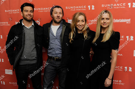 """Antony Starr, Joel Edgerton, Teresa Palmer, Felicity Price From left, Antony Starr, Joel Edgerton, Felicity Price and Teresa Palmer, cast members in the Australian film """"Wish You Were Here,"""" pose together at the premiere of the film at the 2012 Sundance Film Festival in Park City, Utah, . The film was highlighted as the opening night film for the World Cinema Dramatic Competition"""