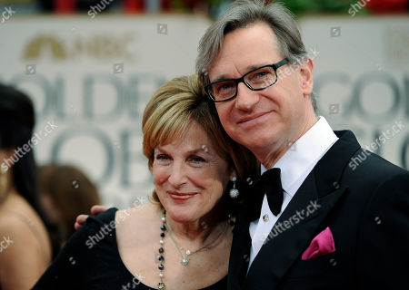 Stock Picture of Paul Fieg, Laurie Fieg Director Paul Feig, right, and his wife Laurie arrive at the 69th Annual Golden Globe Awards, in Los Angeles